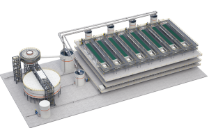 Metso's dewatering technology, including its VPX filter, which can recover up to 90% of water from tailings. Credit: Metso