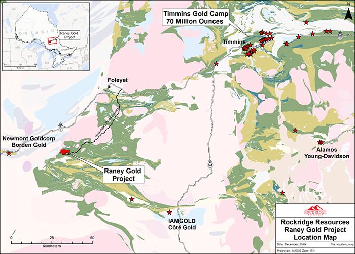 Rockridge Resources' Raney gold project near Timmins, Ont. Credit: Rockridge Resources