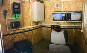 View inside a tele-remote cabin Credit: RCT