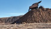 A haul truck placing ore on the leach pad at Fiore Gold's Pan gold mine in Nevada. Credit: Fiore Gold.