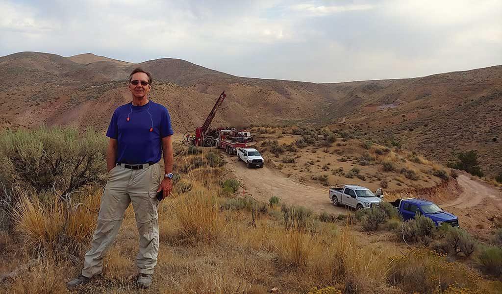 First Vanadium president and CEO Paul Cowley at the Carlin vanadium project in Nevada. Credit: First Vanadium.