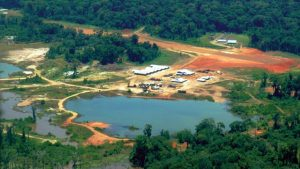 Potential pit area at Toroparu gold project in Guyana Credit: Gold X