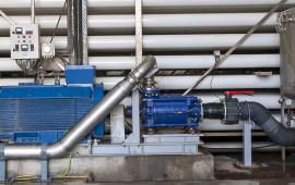 Interior of a reverse osmosis water treatment plant Credit: Golder