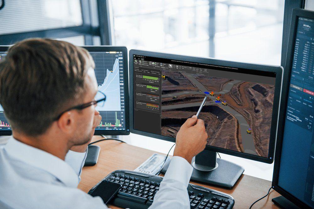 RPMGlobal's HAULSIM mining simulation tool. Credit: RPMGlobal