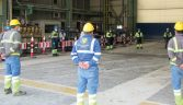 Practicing physical distancing during a meeting at Eldorado Gold's Kisladag gold mine in Turkey Credit: Eldorado Gold