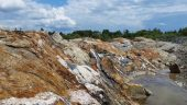 An outcrop at Probe Metals' Val-d'Or East gold project in Quebec Credit: Probe