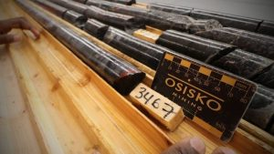 Drill core from Osisko Mining's Windfall gold project Credit: Major Drilling