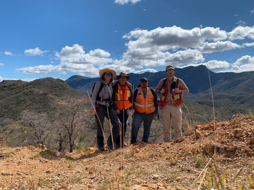 Riverside Resources geologists at the Los Cuarentas gold-silver project in Mexico. Credit: Riverside Resources