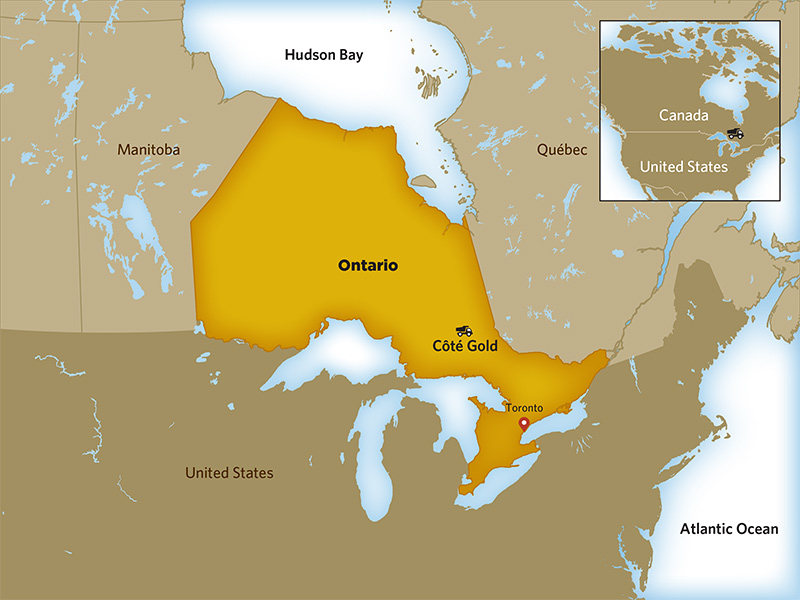 Iamgold's 70%-owned Cote gold project, in Ontario. Credit: Iamgold