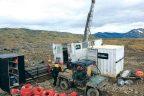 Drill rig at Keno Hill Silver Credit: Metallic