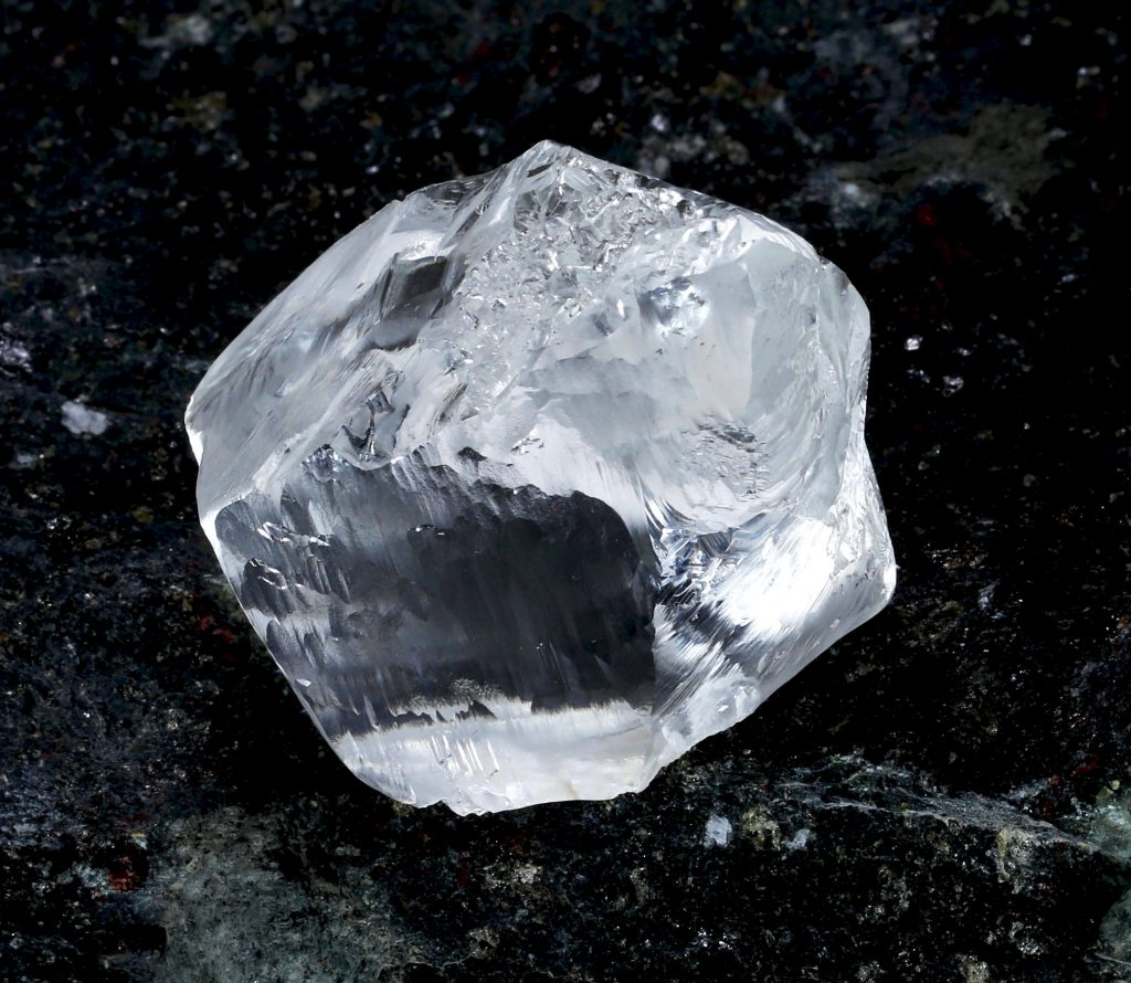 A 549-carat diamond recovered from Lucara Diamond's Karowe mine in February. Credit: Lucara Diamond