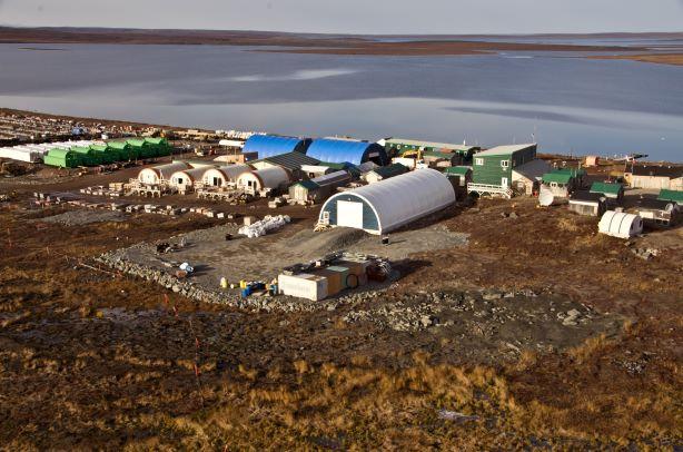 Sabina Gold & Silver's Goose camp at the Back River property in Nunavut. Credit: Sabina Gold & Silver