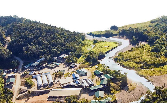 The camp at Lundin Gold's Fruta del Norte gold project in Ecuador Credit: Lundin Gold