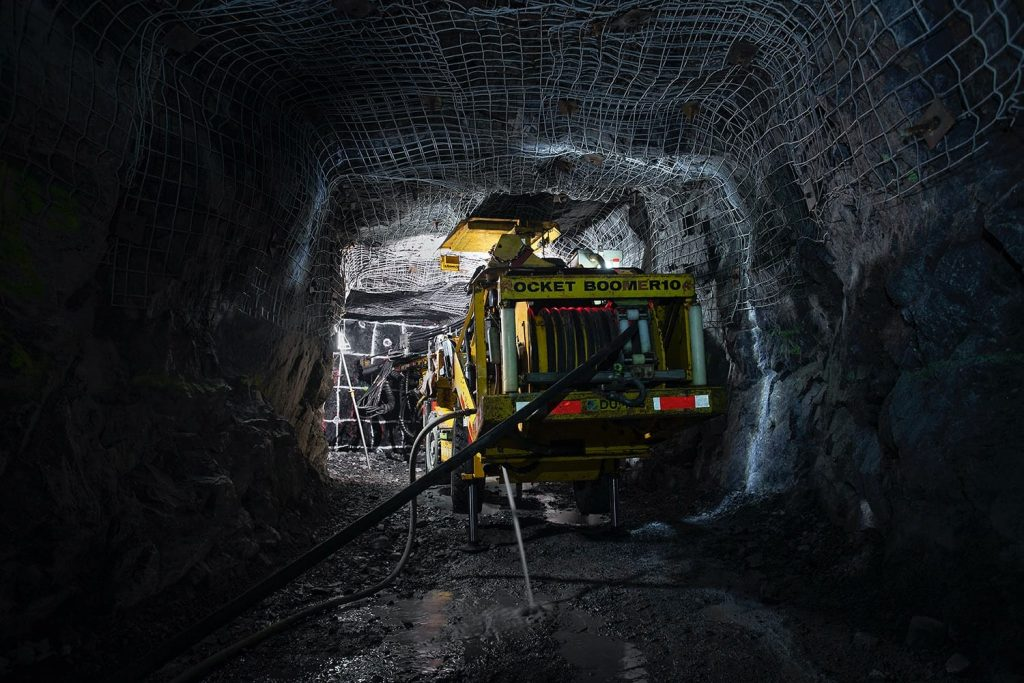 Underground drilling at PureGold Credit: Pure Gold