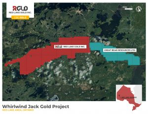Whirlwind Jack claims in Ontario Credit: Red Lake Gold