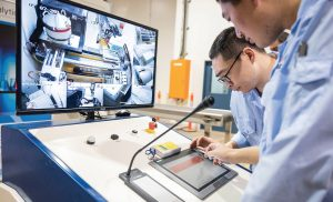 Chrysos engineers monitor the PhotonAssay process via an HMI (human machine interface), allowing for safe startup, operation and troubleshooting. Credit: Chrysos