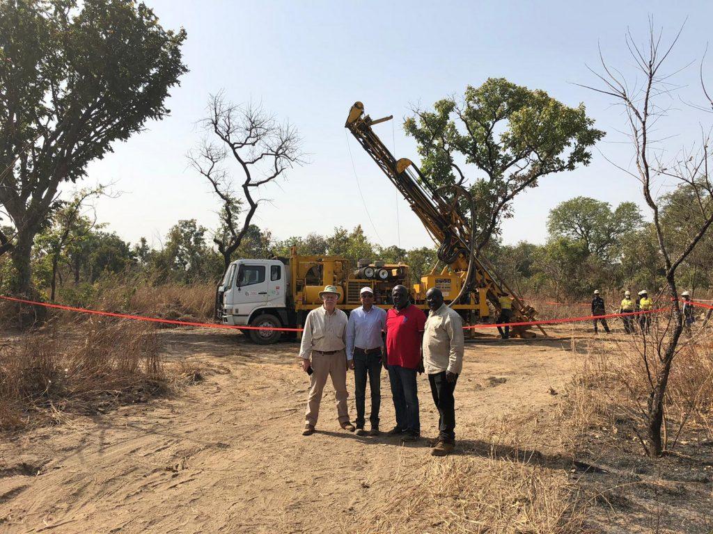 Drilling at Kandiole Credit: Roscan