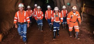 Miners at Equinox Gold's Los Filos mine in Guerrero state, Mexico. Credit: Equinox Gold