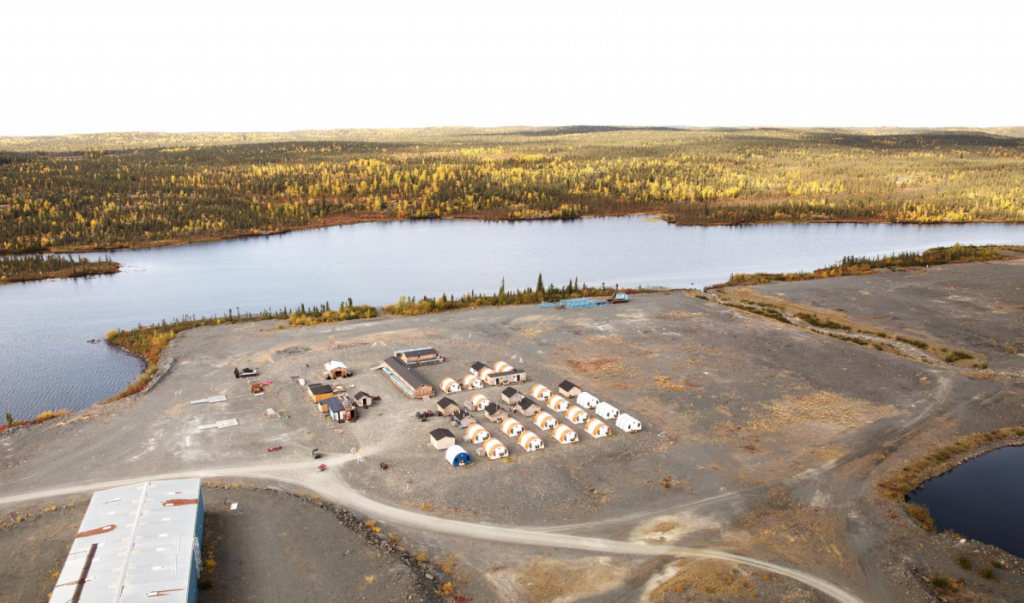 The camp at Nighthawk Gold's Colomac gold project in the Northwest Territories. Credit: Nighthawk Gold