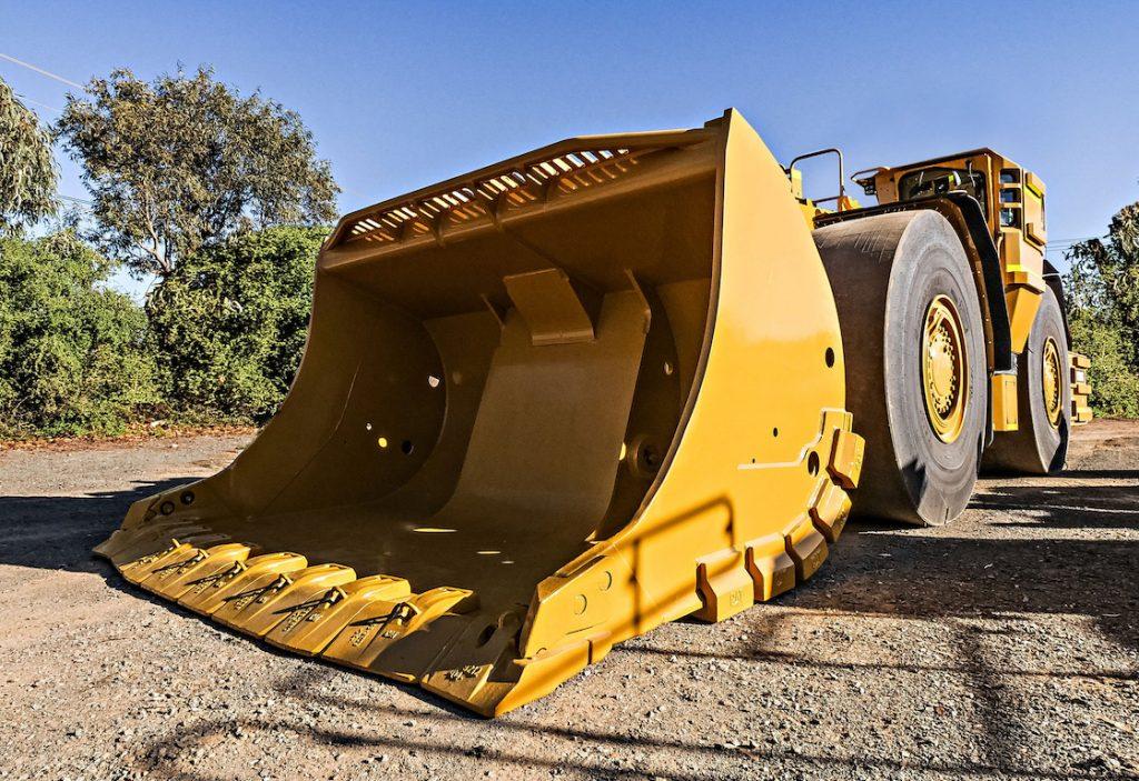 Cat Durilock GET on underground loader bucket. Credit: Caterpillar