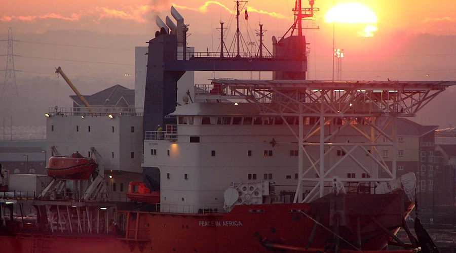 De Beers and Orange Business Services said the solution was successfully piloted on board the MV Mafuta, pictured here. (Image by Gary, Wikimedia Commons).
