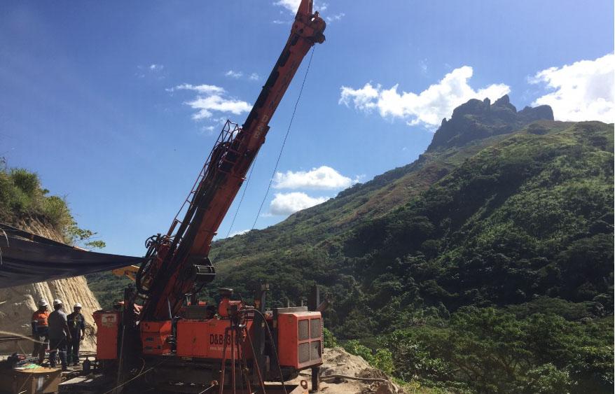Drilling at the Navilawa Caldera Credit: Lion One Metals