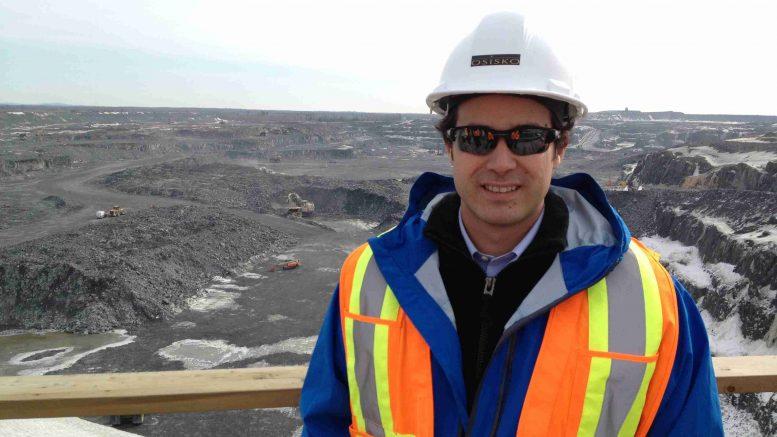 Jose Vizquerra at the Canadian Malartic gold mine in Quebec in 2013 Credit: J. Vizquerra
