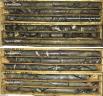 Massive sulphide drill core Credit: Eskay Mining