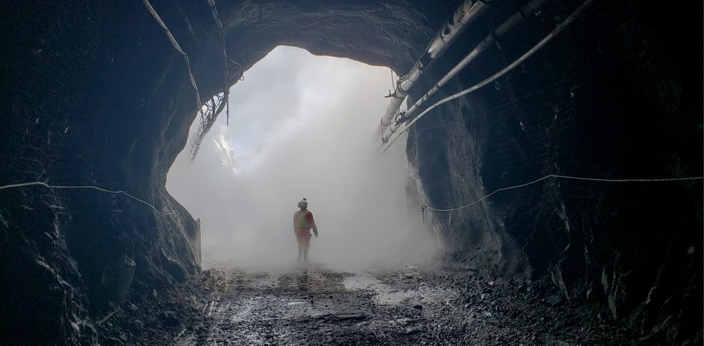 The portal to the underground ramp at the Windfall Lake gold project, in Quebec. Credit: Osisko Mining