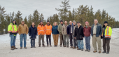 Members of the Rio Tinto and Forum Energy Metals teams at Janice Lake, in Saskatchewan. Credit: Forum Energy Metals