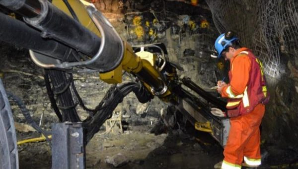 Underground mining at the Renard diamond mine in Quebec. Credit: Stornoway Diamond