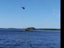 Barge drilling at Bonterra Resources' Gladiator project in Quebec Credit: Bonterra Resources
