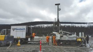 Drilling at Cow Mountain Credit: Barkerville Gold Mines