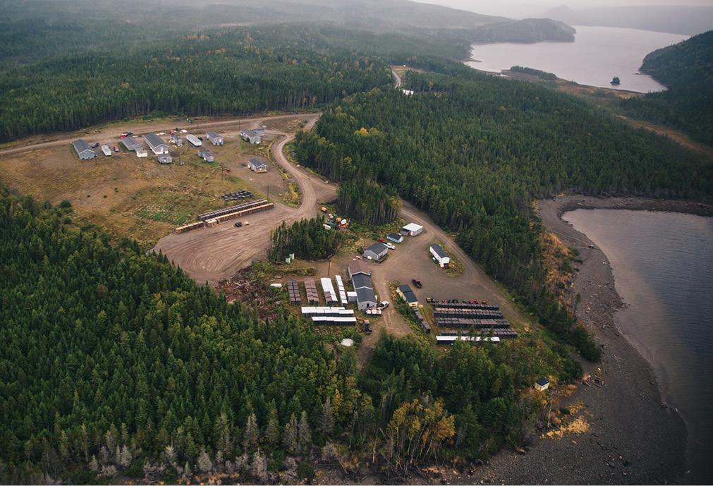 The Valentine camp, in September. Credit: Marathon Gold
