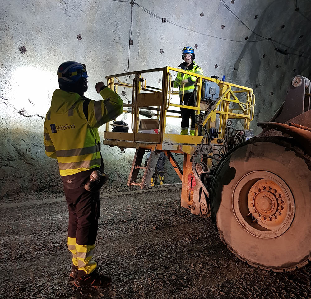 Widefind is one of the finalists for the Swedish Mining Innovation's Innovation of the Year award. Credit: Widefind