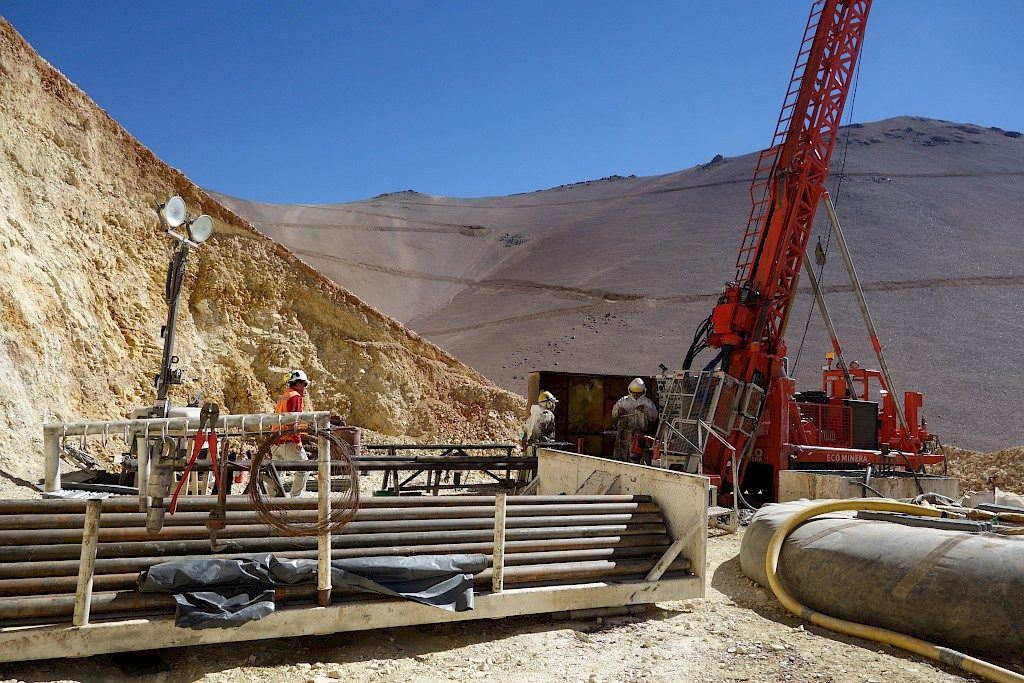 Drilling at the Josemaria copper-gold project in Argentina. Credit: Josemaria Resources