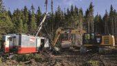 Drill site at Valentine Lake Credit: Marathon Gold