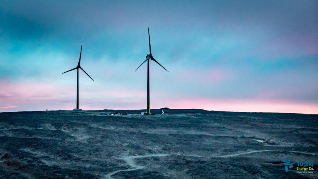 Wind turbines at Raglan. Credit: Tugliq Energy