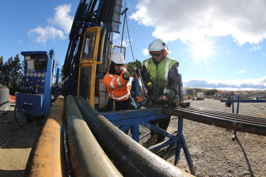 Exploration drill rig operators