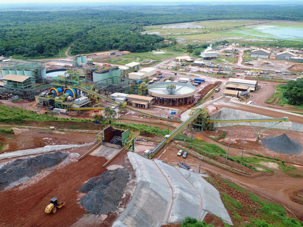 Aerial view of Aurizona mine