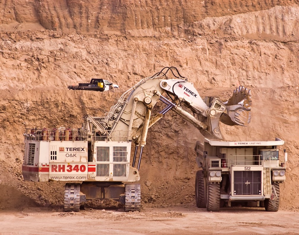 Mining equipment at Equinox Gold's Mesquite mine
