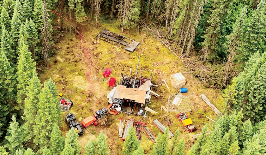 Drill rig from above